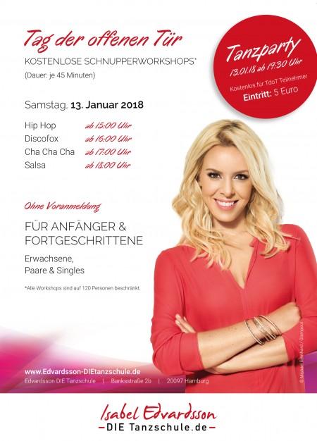 Isabel Edvardsson Die Tanzschule In Hamburg Flyer